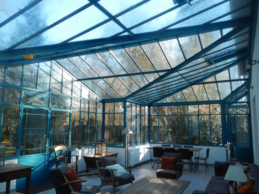 intérieur veranda acier 5