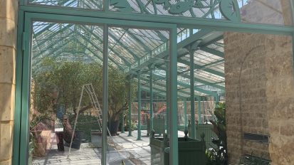 An impressive glasshouse, in a magnificent property, in the English country side